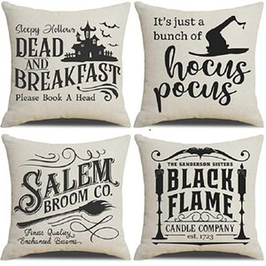 Halloween Decor Pillow Case Decorations Outdoor Fall Pillows Decorative Throw Cushion Covers For Home Sofa T2I52560