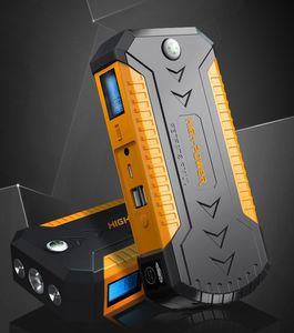 2021 Новый автомобиль Jump Starter Аккумуляторная батарея Многофункциональный аварийный источник питания для бензинового мобильного телефона Зарядное устройство 12 В 4 USB F 6.0L Газовый газ 4.0L Дизельный двигатель