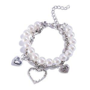 Link, Chain Cross-border Love Imitation Pearl Couple Student Simple Wild Letter Bracelet Friendship Bracelets