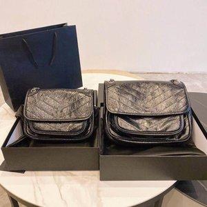 Luxuriöse Klassische Stil Bunte Mode Weibliche Echtes Leder Frauen Umschlag Hoshulloder Tasche Dame Handtasche Frauen Messenger Bag Niki Calfskin Taschen
