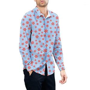KLV SHIRTS Hombre Otoño Nuevo estilo Camisa Copos de nieve Flores Impreso Camisa Estilo étnico Pareja Casual Fashion Top Bluse1