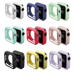 Funda de silicona suave para la banda de reloj de Apple Colorido Iwatch Series 1 2 3 4 Fundas de protección completa 42mm 38mm 40mm 44mm Accesorios