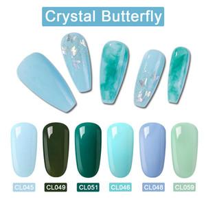 LAGUNAMOON Nail Art Crystal Butterfly Gel Polish UV LED Soak Off Varnish Lacquer Manicure Tool Beauty Salon 8ml