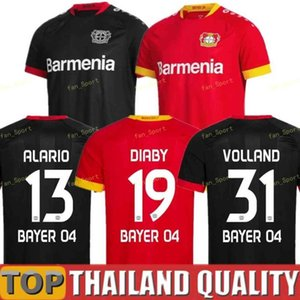 Bayer 04 Leverkusen Futebol Jerseys Havertz 20 21 Volland Leverkusen Alario 19 20 Camisa de Futebol Bailey Diaby Men + Kid Kit Jersey