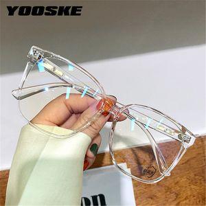 Yooske Blue Light Blocking Lunettes Hommes Femmes Square Square Eyeglass Cadre Femme Eyewear Cadres Ordinateurs Optique Optique Spetacles J0223
