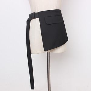 Elegant Asymmetrical Women Girdle Irregular Patchwork Pockets Girdles For Female Fashion 2021 Summer Accessories