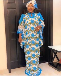 Vestidos africanos de encaje para las mujeres Boubou Robe Femme Vestido africano Dashiki Bordado Flor Kaftan Vestido África Plus Tamaño Ropa