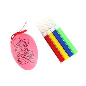 5 قطعة / المجموعة كتابات البيض اللون القلم الأحمر القوس diy الأطفال اليدوية الإبداعية البلاستيك الأرنب الطباعة نمط البيض عيد الفصح الطفل هدية 0 69xd g2