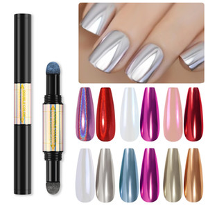 1Pcs Laser Powder Tools for Nail Art Decorations Fashion Double Head Nails Pen Accessories for Manicure