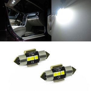 Car Headlights 2pcs Canbus Error Free 31mm 36mm 39mm 41mm 3-3030-SMD LED Festoon Bulbs For Dome Map Trunk Footwell Glove Box Lights Replacem