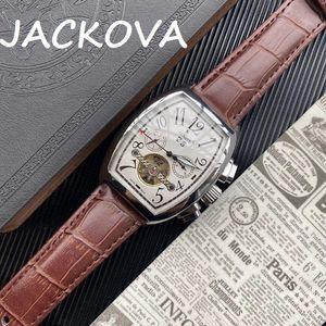 mens automatic mechanical oval watches famous designer leather wristwatches sapphire luminous watch montre de luxe