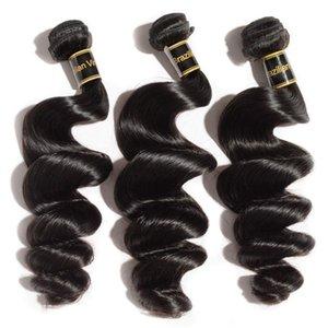 المنك البرازيلية الشعر البشري مستقيم الجسم فضفاض موجة عميقة غريب مجعد غير المجهزة البرازيلي بيرو الهندي نسج حزم
