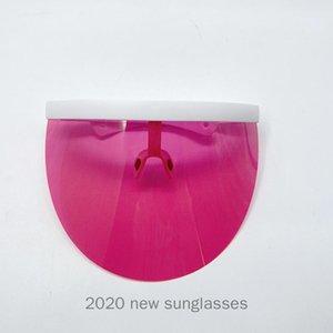 Lunettes de soleil unisexe Soleil Eductionnelle Verres à coupe-vent Bouclier Mirror Miroir Half Visage Bouclier Garde anti-Voyeur Visière Sun Verres NX