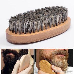 Beard Bro Shaping Beard Brush Sexy Man Gentleman Beard Trim Template Grooming Shaving Comb Styling Tool Wild Boar Bristles VT0668
