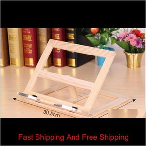 Adjustable Portable Wood Book Stand Holder Wooden Bookstands Laptop Tablet Study Cook Recipe Books Stands Desk D qylyQN lyqlove