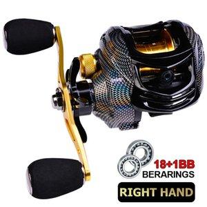 BAITCASTING Angelspule Wassertropfen Magnetische Bremsanlage 18 + 1 Welle Spinnradrollen