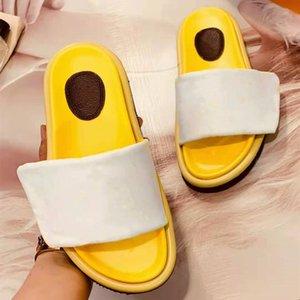 Мужчины бассейна подушка тапочки наполнение нейлоновая буква печатный комфортный муль дизайнер женщины кожаный закат плоский резиновый подошвы слайд сандалии