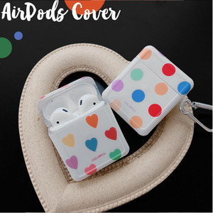 Colorful Heart Wave Point Case For AirPods 3 Pro 2 1 Cute Soft Silicone Earphone Accessories Protective Cover for AirPod Air Pods
