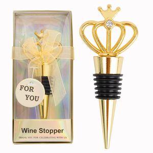 Crown Bottle Opener Alloy Beer Corkscrew Bottles Openers With Diamond Wedding Party Gift 2 Colors