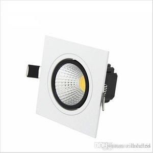 Square empotrado LED Dimpirable COB Downlight LED Down Lights 7W / 9W / 12W / 15W LED Fotlight Decoration Lámpara de techo AC85-265V