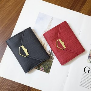 Designer new small wallet women short frosted stitching all-match folding mini retro coin purse card factory sales free shipping