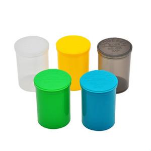 30 Dram Empty Squeeze Pop Top Bottle-Vial Herb Box Acrylic Plastic Stroage Stash Jar Plastic Pill Bottle Case Box Herb