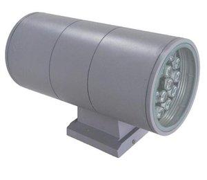 36w exterior interior UpdOlown LED parede montagem lâmpada AC 85 ~ 265V Up Down Lighting Garden Jardim luz À Prova D 'Água ip65 Qualidade Bulbo 8 pcs / lote DHL