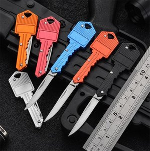 Stainless Locksmith tools Keychains Folding Knife Mini Pocket Knives Outdoor Camping Hunting Tactical Combat Knife Survival EDC Tool