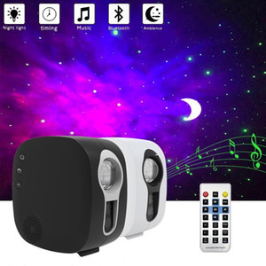 Bluetooth Starry Sky Projector LED Night Light Projector Galax Nebula Ocean Music Docight Control Star Moon Night Lamp