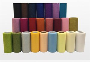 25 yards Glitter Organza Tulle Roll Spool Fabric Ribbon DIY Tutu Skirt Gift Craft Baby Shower Wedding Party Decoration Gold Silver