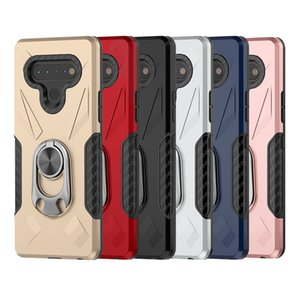 For Samsung Galaxy A01 For LG K51 Stylo 6 Shockproof Admiral Ring Phone Case For Motorola Moto G Stylus TPU+Metal Mobile Cover