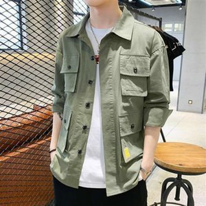 2021 New Hip Hop Shirt, Safari Style Casual Spring Fall, Denies Japanese Men's Shirts Long Sleeve Retro Clothes. 2ign