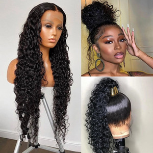 360 Lace Frontal Wig hd lace Water Wave 150% Lace Front Wig Human Hair Wigs Deep Curly Glueless Virgin Brazilian Closure Wig