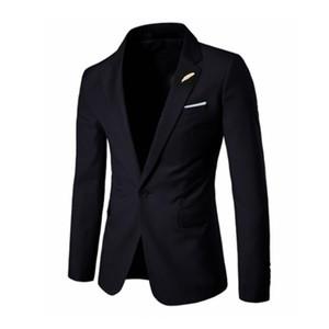 Мужские костюмы Blazers Стильный повседневный чистый цвет высококачественный костюм мужские деловые платья мужская куртка S-2XL