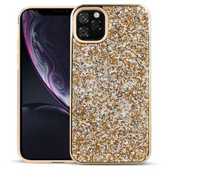 2 in 1 Diamond Glitter Bling Hybrid TPU PC Case For iPhone 11 Pro Max XR XS Max 8 7 6 6S Samsung S8 S9 S10 5G Plus S10E Note 9 10 10+