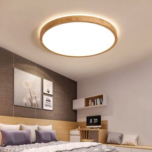 Ceiling lights LED Ceiling Lamp for Living room Lights Bedroom Round wood LED Ceiling light lampa Kitchen Fixture Surface Mount R179