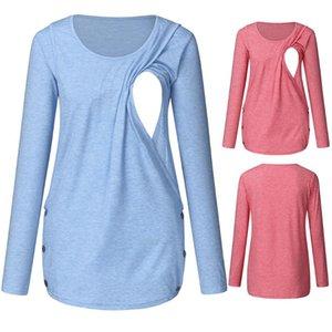 Maternity Tops & Tees Women Long Sleeve T-shirts Breastfeeding Ladies T-Shirt Loose Pregnancy Clothes T Shirt Summer