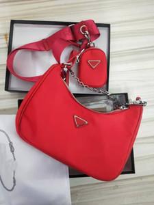 Дамы бренд сумка на плечо диагональ моды холст сумка три в один нейлоновый мешок