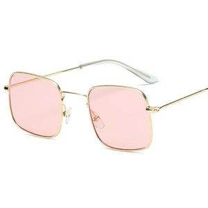Güneş Gözlüğü Lüks Kare Kadınlar Marka Tasarımcısı Kadın Sunglass Erkekler için Vintage Çerçevesiz Güneş Gözlükleri