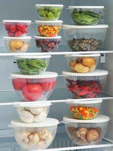 Бутылки для хранения ДОРГОВЫЙ Герметизация Пищевая ящик Холодильник Chibper Овощное Сохранение Свежий горшок Контейнер Кухонный Организатор