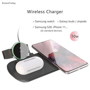 Fast Charging 3 In 1 Wireless Charger Station Stand For Samsung S20 Charging Dock For Samsung Watch Active Galaxy Buds + Airpods X0124
