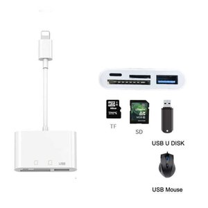 IOS14 Phone SD TF Memory Card Reader USB Mouse U Flash Disk Drive OTG Adapter for IPhone 12 11 Pro X XS MAX XR 6 7 8 Plus IPad