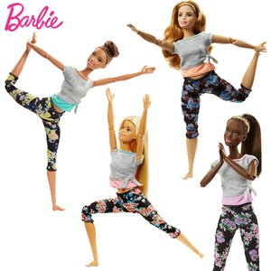 Newest Style Original Barbie Doll Sport Move Set Yoga Gymnastics Limitless Movement All 22 Joints Doll Boneca Toys Brinquedos