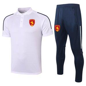2021 Rodez Aveyron с коротким рукавом рубашка Polo наборы футбольный костюм спортивные майки для взрослых футбол Polos и брюки наборы мужские трексуиты