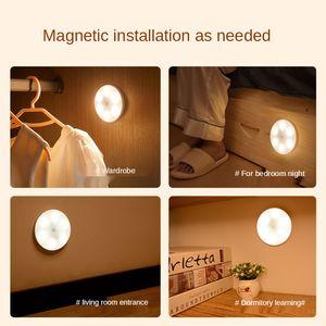LED Motion Sensor Light PIR Ultra Slim USB Rechargeable Bedroom Wall Lamp Stairs Aisle Wardrobe Cabinet Night Lamp gift