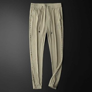 Spring and summer casual pants men's straight overalls men's thin pants fashion slim Leggings versatile elastic pants