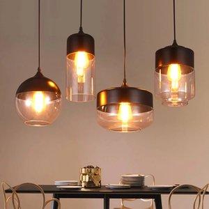 Modern Glass Pendant Light Hanging Lamp Kitchen Light Fixture Dining Hanglamp Living Room pendant lamp R198
