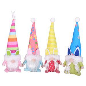 Ostern Süße Gesichtslose Sachen Plüsch Puppe Gnome Bunny Dekoration Handgemachte Kaninchen Elf Plüsch Spielzeug Puppe Figuren Holiday Party Supplies)