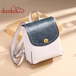 Multifunction Fashion Ladies Backpack Designer Women Shoulder Bag Korean Style Backpacks Fashion Two tone Student Backpack 9608