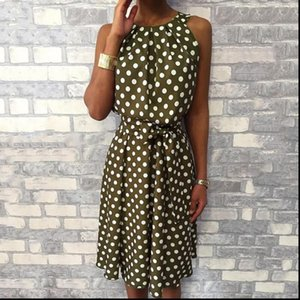 Halter Asymmetrical Ruffles Tank Polka Dot Dress Women Sexy Off Shoulder Summer Dress 2021 Bohemian Beach Dress Ladies Sundress